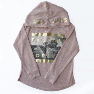 Girls Long Sleeve Hooded Top